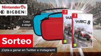 [Act.] ¡Sorteamos 2 copias de WRC 8 para Nintendo Switch + 2 fundas!
