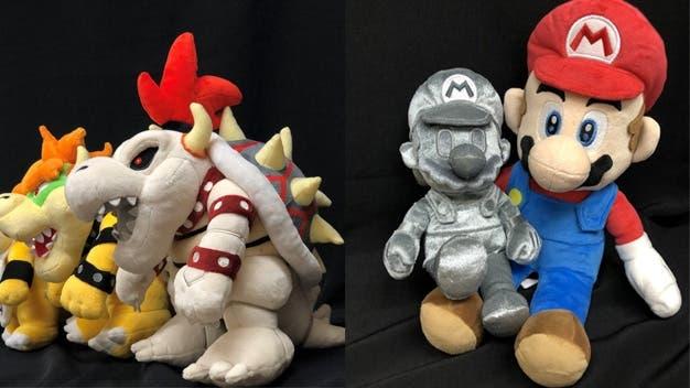 Sanei Boeki anuncia una nueva línea de peluches con Mario de Metal y Bowsitos