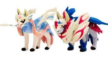 Pokémon Center recibe peluches de Zacian y Zamazenta, junto a nuevo mechandising de Galar