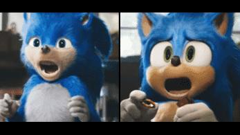 Comparativa en vídeo del rediseño de Sonic en su película de acción real