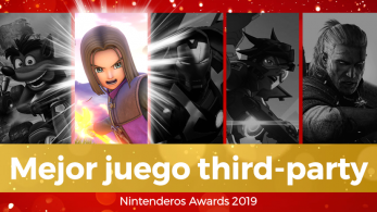 ¡Dragon Quest XI S se coloca como vuestro juego third-party favorito en los Nintenderos Awards 2019! Top completo con los votos registrados