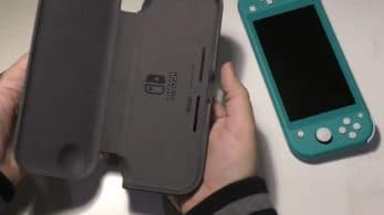 Unboxing de la funda plegable oficial de Nintendo Switch Lite