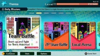 [Act.] Tetris 99: Versión 2.1.0 con modo Team Battle y más y avance de la 10ª Maximus Cup