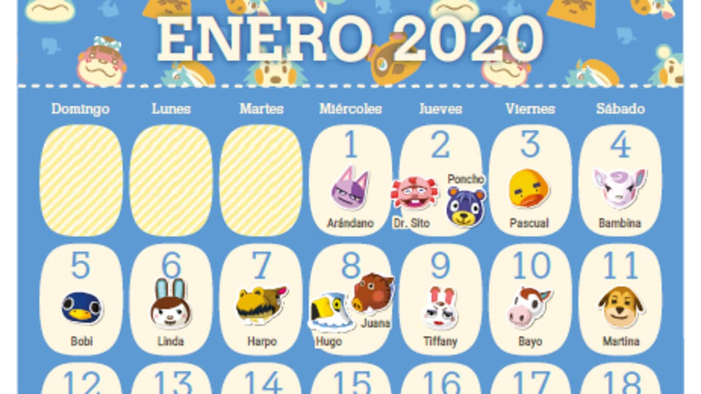 My Nintendo ofrece un calendario de cumpleaños imprimible de Animal Crossing en Europa