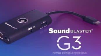 Creative presenta Sound Blaster G3, un DAC y tarjeta de sonido USB externa compatible con Switch