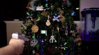 Un fan añade un juego de Duck Hunt a su árbol de navidad