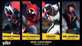 Marvel Ultimate Alliance 3: The Black Order recibe nuevos trajes