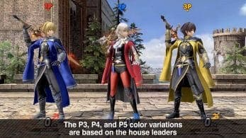 Estas son las originales variaciones de color de Byleth en Super Smash Bros. Ultimate