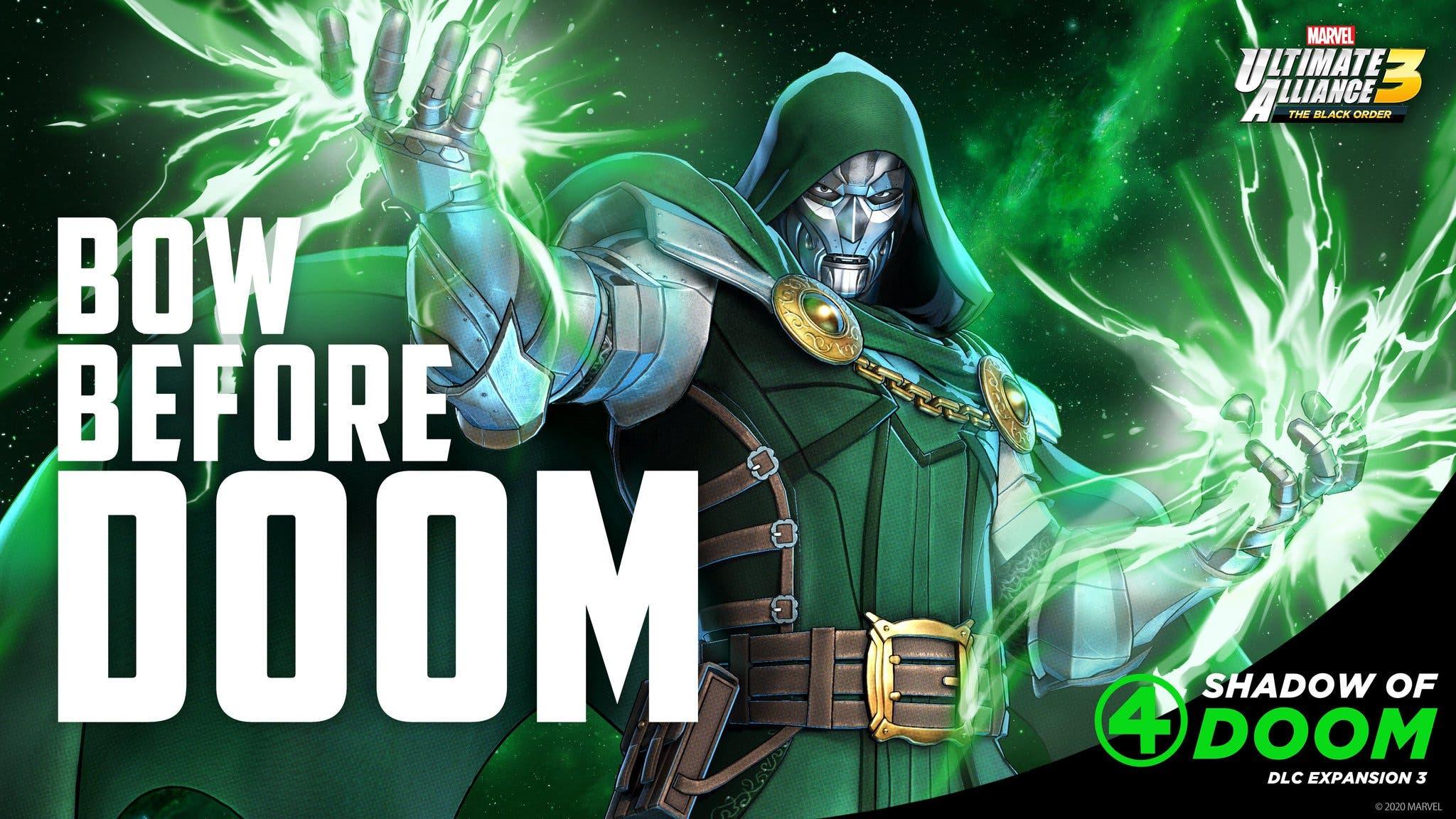Nintendo nos muestra al Doctor Doom en Marvel Ultimate Alliance 3: The Black Order
