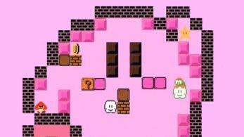 Mirad este fan-art de Kirby, inspirado en la temática de los Mario Bros. de 8 bits