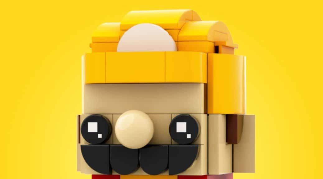 Imaginan una adorable figura de Super Mario Maker 2 creada con piezas de LEGO