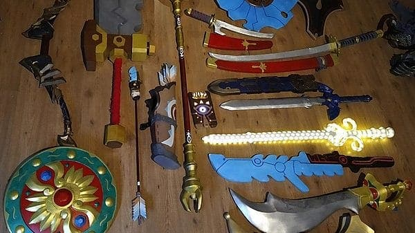 Mirad este set de armas de The legend of Zelda: Breath of the Wild fabricados por un fan