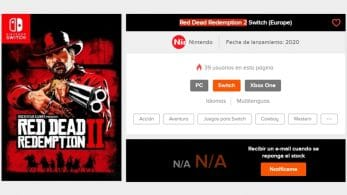 Instant Gaming lista Red Dead Redemption 2 para Nintendo Switch
