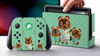 Echa un vistazo a estas skin licenciadas de Animal Crossing: New Horizons para Nintendo Switch