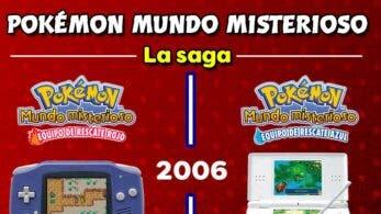 Nintendo repasa con esta imagen la saga Pokémon Mundo misterioso desde sus inicios hasta Pokémon Mundo misterioso: Equipo de rescate DX