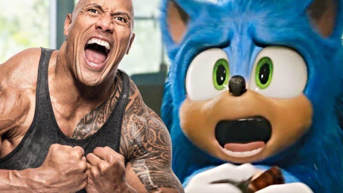 Un actor de la película de Sonic sugiere que Dwayne Johnson podría tener un rol en su secuela