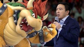 El excandidato presidencial Andrew Yang se burla de los jugadores de Bowser en Smash Bros. Ultimate