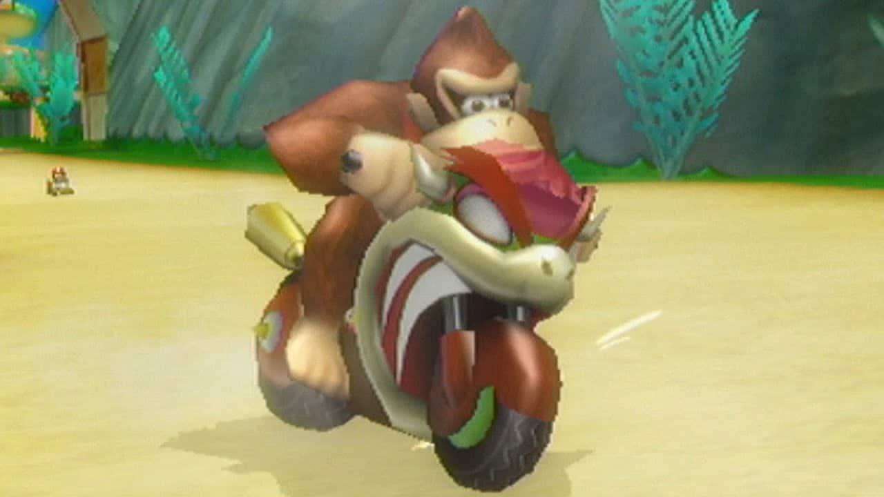 Un error de Mario Kart Wii pone bocas en los pies de Donkey Kong