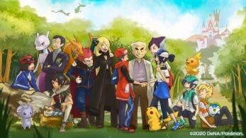 Esta imagen celebra los 6 meses de Pokémon Masters en el mercado