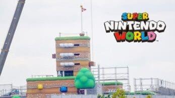 Capturan en vídeo la primera estructura en movimiento de Super Nintendo World