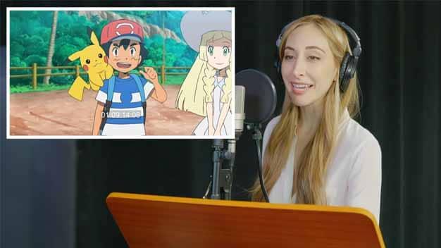 La voz de Ash en inglés, Sarah Natochenny, nos enseña cómo se dobla el anime de Pokémon
