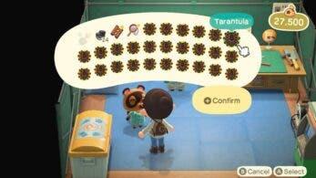 Este truco plaga Animal Crossing: New Horizons de codiciadas tarántulas