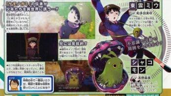 Miu Shinonome y Syakomon protagonizan estos nuevos detalles de Digimon Survive