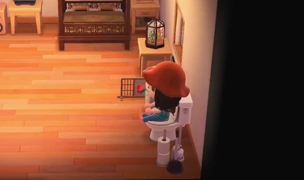 Esto es lo que sucede al sentarte en el retrete de Animal Crossing: New Horizons