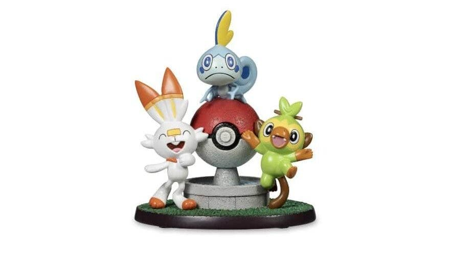 Pokémon Center US lanza una figura exclusiva con los tres Pokémon iniciales de la región de Galar