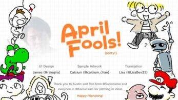 Los rumores de Flipnote para Switch y la OST de La isla de la armadura fueron elaboradas bromas de los fans por el April Fools' Day