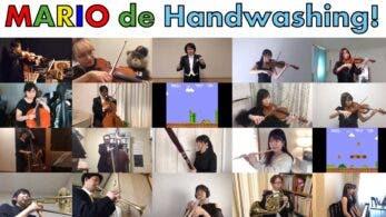 La New Japan BGM Philharmonic Orchestra interpreta el tema clásico de Super Mario Bros. para concienciar sobre el lavado de manos
