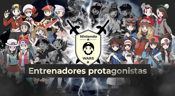 Segunda Ronda de Nintendo Wars: Entrenadores protagonistas de los juegos de Pokémon: ¡Vota por los 8 clasificados!