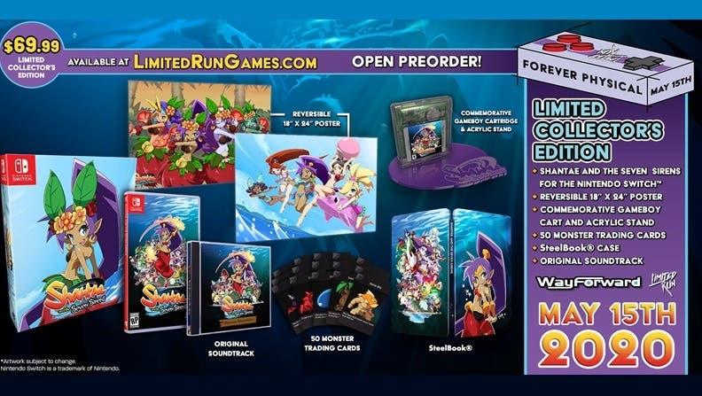 Las reservas de las versiones físicas de Shantae and the Seven Sirens se abren el 15 de mayo