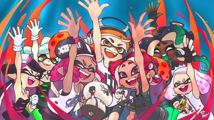Los jugadores de Splatoon celebran el quinto aniversario de la saga con geniales fan arts