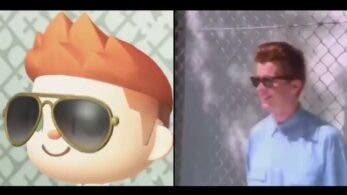No te pierdas este homenaje a Never Gonna Give You Up de Rick Astley en Animal Crossing: New Horizons
