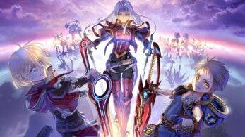 Esta ilustración oficial reúne a Shulk, Rex y Elma para celebrar el décimo aniversario de Xenoblade Chronicles