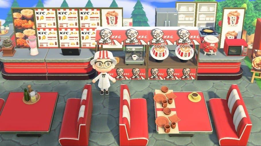 Abre un restaurante oficial de KFC en Animal Crossing: New Horizons que regala códigos para canjear en ubicaciones reales