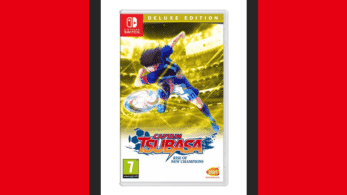 Este es el boxart europeo de Captain Tsubasa: Rise of New Champions para Nintendo Switch