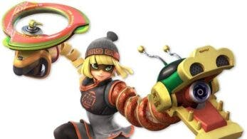 Todas las variantes de color y nuevas capturas de Min Min de ARMS en Super Smash Bros. Ultimate