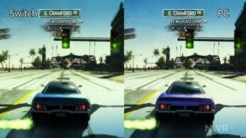 Comparativa en vídeo de Burnout Paradise Remastered: Nintendo Switch vs. PC