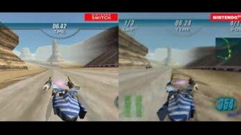 Este vídeo compara las versiones de Star Wars Episode I: Racer para Nintendo 64 y Switch