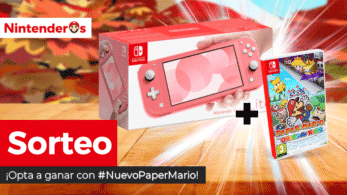 ¡Sorteamos una Nintendo Switch Lite + Paper Mario: The Origami King!