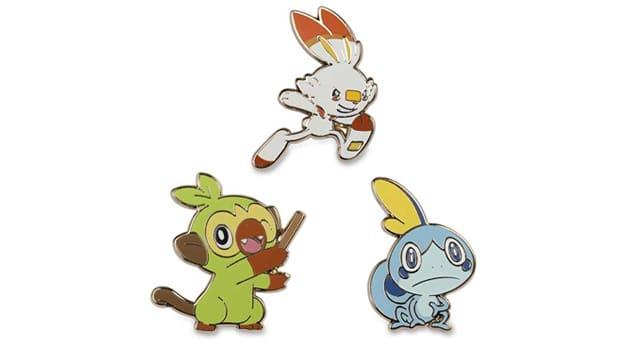 Pokémon Center anuncia nuevos pins de Grookey, Scorbunny y Sobble