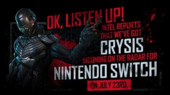 Crysis Remastered finalmente no se retrasa en Nintendo Switch: se lanzará el 23 de julio