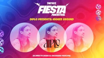 Diplo regresa para la próxima Fiesta magistral de Fortnite con la actuación en directo Diplo Presents: Higher Ground