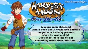 Conoce al protagonista masculino de Harvest Moon: One World
