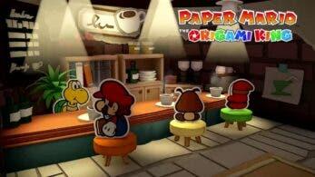 Escucha el tema musical de la cafetería de Paper Mario: The Origami King
