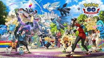 Pokémon GO celebra su 4º aniversario con este arte, donde se muestra la Megaevolución y más