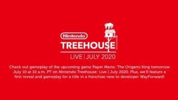 Anunciado Nintendo Treehouse: Live para el 10 de julio con Paper Mario: The Origami King y más