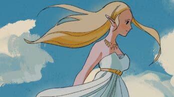 Fan imagina con este genial póster una película de Zelda: Breath of the Wild al estilo Ghibli